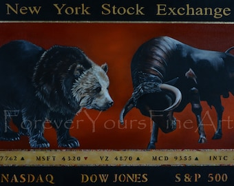 Wall Street  Archival giclee print on matte paper and Archival pigment ink