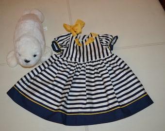 vintage pinafore dress Monnalisa