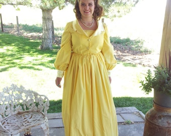 Canary Yellow 1960s Gown