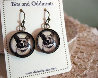 Welsh Corgi Earrings