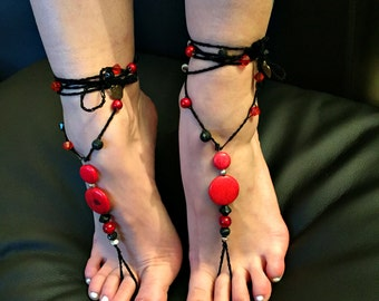 "Barefoot sandals ""call of red"""