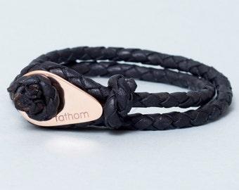 LEATHER Bracelet Groomsmen Gift For Groom Boyfriend Gift For Husband Gift For Brother Gift For Birthday Gift Mens Gift For Him Gift For Her