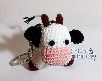 Cow amigurumi Keyring