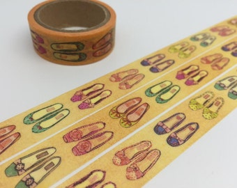 Shoes tape 5M colorful shoes washi tape lady shoes deco tape girl shopping planner sticker tape decor Japanese masking tape removable tape