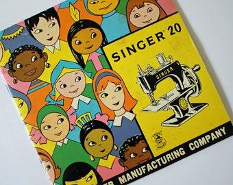 Vintage 1955 Singer 20 Child's Sewing Machine Instruction MANUAL...Sew handy...1955...Singer Manufacturing Co