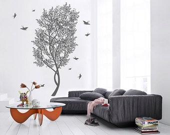 kik346 Wall Decal Sticker Room Decor Wall Art Mural tree swallow bird living room children's bedroom