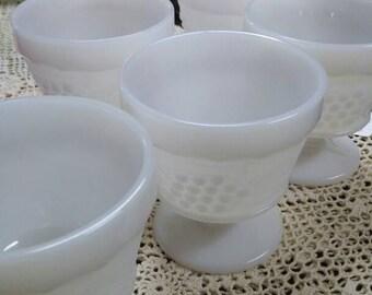 Milk Glass Dessert Cups