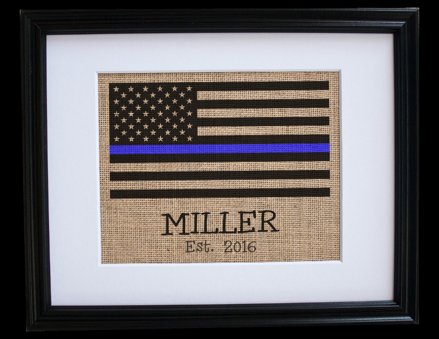 Thin Blue Line Gifts Personalized Flag Signs Thin Blue Line