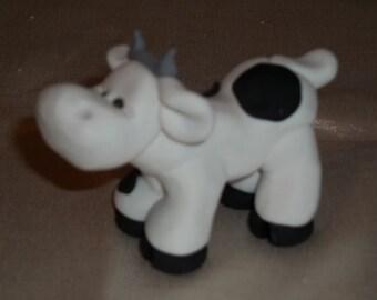 FIMO Cow Figurine