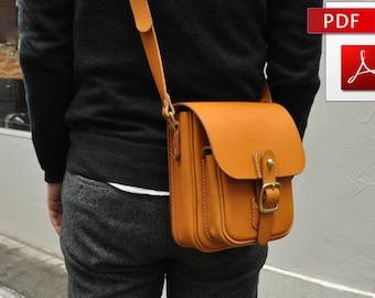 Pattern of small leather shoulder bag. PDF