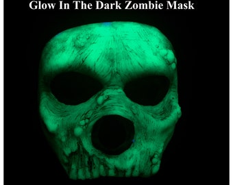 Glow In the Dark, Self Sticking Zombie Prosthetic Mask