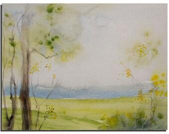 "Original Watercolor painting, 10""X8"" Original Painting Landscape painting, wall art Modern Art Painting Watercolor Landscape - Tatjana Ruzin"