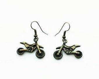 Awesome Motorbike Hoop Earrings