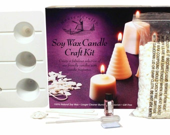 House of Crafts Soy Wax Candle Craft Kit Eco Friendly Vanilla Fragrance Shapes