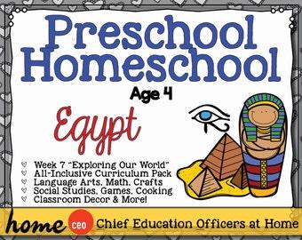 Homeschool Preschool Egypt Unit