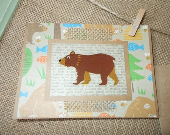 Woodland Creatures- bear- greeting cards