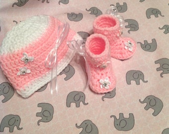 Crochet Baby Hat and Boots