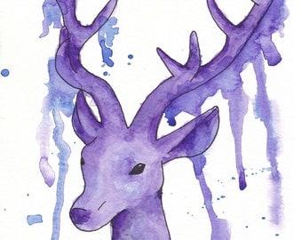 Art map deer