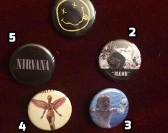 Nirvana buttons