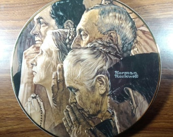 "Rockwell ""Freedom of Worship"" Plate 1982"