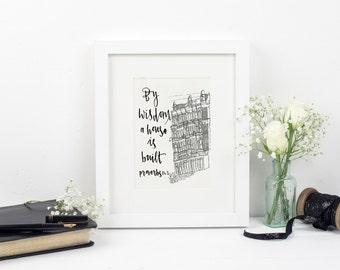 By wisdom a house is built - Wallprint Proverbs 24:3