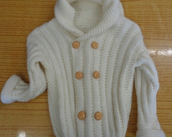 Childs Hooded Aran Jacket (5278)