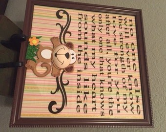 Wall Decor Nursery Monkey Sign