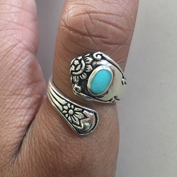 sterling silver spoon ring index ring thumb ring by
