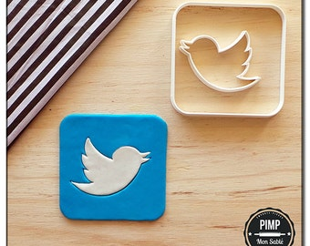 Cookie Cutter Logo Twitter / Set fondant