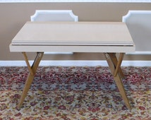 Mid Century 1950s Castro Convertible Formica Flip Top Dining Table ~ Coffee Table