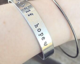 half agony, half hope bracelet