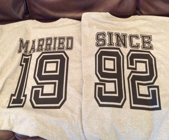 His And Hers T Shirts Married Since T Shirt Anniversary