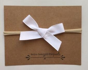 Ribbon bow || white