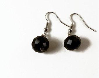 Black Sparkly Earrings