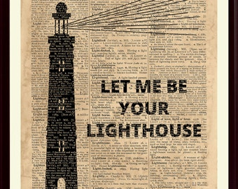 Lighthouse Poster, Lighthouse Quote, Lighthouse Print, Nautical Decor, Lighthouse Art, Coastal Decor, Coastal Artwork, Beach Cottage Decor
