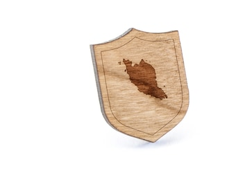 Malaysia Lapel Pin, Wooden Pin, Wooden Lapel, Gift For Him or Her, Wedding Gifts, Groomsman Gifts, and Personalized