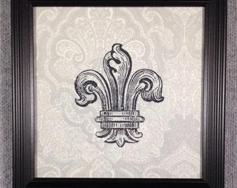 Framed fabric print of Fluer de Les