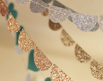 Custom Bachelorette Party Decorations, Glitter Wedding Garland, Silver Gold Tuquoise Green Teal Pink Red Copper Brown Black Photo Backdrop