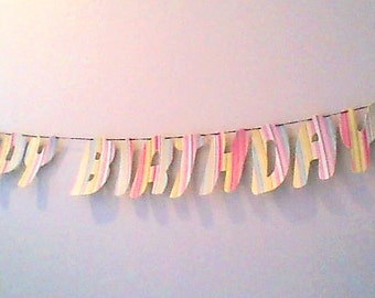 Happy Birthday Balloon Banner / Rainbow Birthday / Children Birthday banner