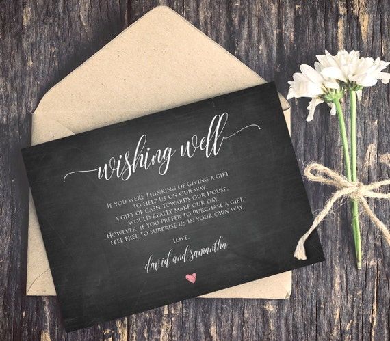 Wishing Well Poem Template INSTANT DOWNLOAD Editable Text