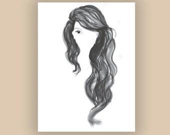 Ariel Fashion Illustration Print