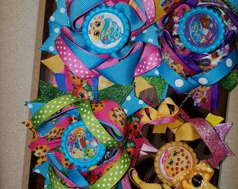 4.5 Layered Boutique bottlecap hairbow shopkins