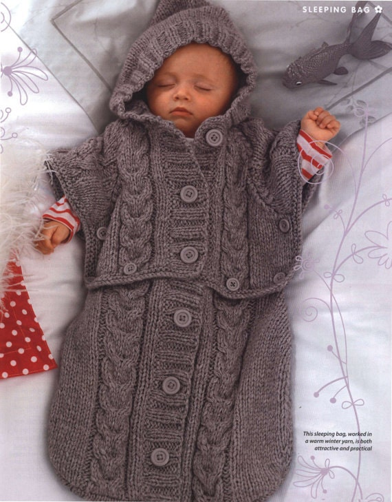 Knitting Pattern Sleeping Bag : Knitting pattern sleeping bag / PDF / Vintage pattern