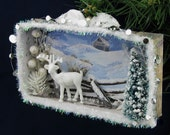 Christmas Eve in the Woods Christmas Card Shadowbox Diorama
