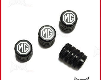 MG / M.G - Set Of 4 Lasered Logo Aluminium Tire Valve Caps (SKU-17837)