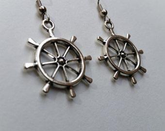 Nautical Earrings Rudder/Helm