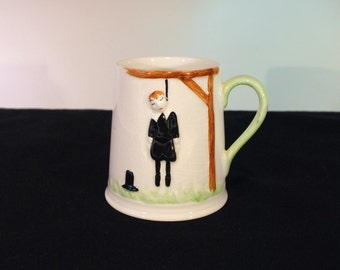 Vintage Carlton Ware Hanging Man Mug, There Are Several Reasons for Drinking, 1972