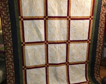 Cross Stitch Queen Size Quilt