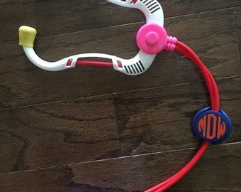 Stethoscope ID Tag - Monogrammed Stethoscope - Nurse's Gift - Doctor's Gift - Stethoscope Charm