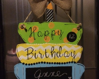 Birthday chalk signs